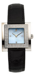 Timepieces:Wristwatch, Audemars Piguet Lady's White Gold & Diamond Wristwatch. ...