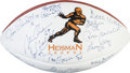 Football Collectibles:Balls, 1990's Heisman Trophy Winners Multi Signed Football. ...