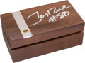 Football Collectibles:Others, 1990 Jerry Rice Signed Super Bowl XXIV Presentational Championship Ring Box....
