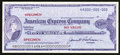 Miscellaneous:Other, American Express Company $50 Travelers Cheque Specimen.. ...