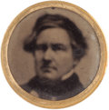 Political:Ferrotypes / Photo Badges (pre-1896), Millard Fillmore: 1856 Ferrotype Clothing Button....