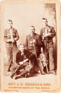 Photography:Cabinet Photos, Buffalo Bill West West Show Performers: Capt. A. H. Bogardus andSons. ...