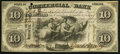 Obsoletes By State:Indiana, Terre Haute, IN-Commercial Bank $10 Aug. 3, 1858. ...