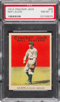 Baseball Cards:Singles (Pre-1930), 1914 Cracker Jack Nap Lajoie #66 PSA NM-MT 8 - Pop One, The HighestGraded Example! ...