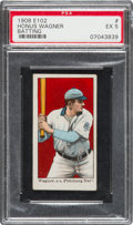"Baseball Cards:Singles (Pre-1930), 1910 E102 ""Set of 25"" Honus Wagner/Batting PSA EX 5. ..."