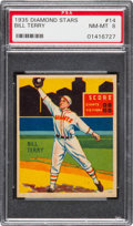Baseball Cards:Singles (1930-1939), 1934-36 Diamond Stars Bill Terry, 1935 Green #14 PSA NM-MT 8....