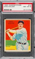Baseball Cards:Singles (1930-1939), 1934-36 Diamond Stars Dixie Walker, 1936 Blue #12 PSA NM-MT 8 -None Higher! ...