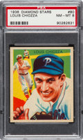 Baseball Cards:Singles (1930-1939), 1934-36 Diamond Stars Louis Chiozza, 1935 Blue #80 PSA NM-MT 8....
