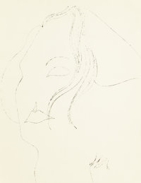 Andy Warhol (American, 1928-1987) Woman, 1950s Blotting ink on paper 10-7/8 x 8-1/4 inches (27.6