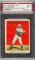 Baseball Cards:Singles (Pre-1930), 1914 Cracker Jack Doc Gessler #59 PSA NM 7. Pop Two, Only OneHigher!...