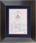 Baseball Collectibles:Others, 2009 All-Star Game Celebration Invitation Signed by 46 Hall of Famers from The Brooks Robinson Collection. ...