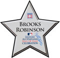 Baseball Collectibles:Others, 2008 All-Star Game Hall of Fame Celebration Field Used Star fromThe Brooks Robinson Collection....