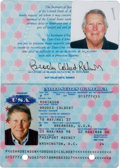 Baseball Collectibles:Others, 1998-2008 United States Passport from The Brooks Robinson Collection. ...