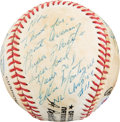 Baseball Collectibles:Balls, Late 1980's Eddie Montague & Lee Weyer Signed Baseball to PeteRose....