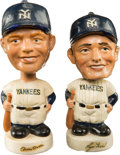 Baseball Collectibles:Others, Early 1960's Mickey Mantle & Roger Maris Miniature Bobble Head Nodders Lot of 2....