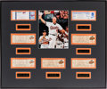 Baseball Collectibles:Tickets, 1994-98 Cal Ripken Jr. Record Setting Tickets Display with SevenSignificant Tickets & Signed Photograph....