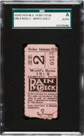 Baseball Collectibles:Tickets, 1919 World Series Game Two Ticket Stub....
