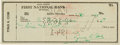 Baseball Collectibles:Others, 1953 Ty Cobb Signed Check. ...