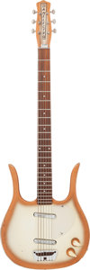 Musical Instruments:Bass Guitars, 1960's Danelectro Longhorn CopperBurst Baritone Guitar....
