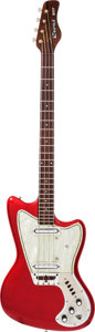 Musical Instruments:Bass Guitars, 1968 Coral Wasp Red Electric Bass Guitar....