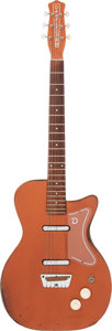 Musical Instruments:Electric Guitars, 1958 Danelectro U2 Bronze Solid Body Electric Guitar....