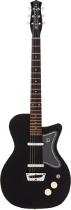 Musical Instruments:Electric Guitars, 1958 Danelectro U2 Black Solid Body Electric Guitar....
