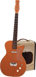 Musical Instruments:Electric Guitars, Circa 1957 Silvertone Model 1300 Bronze Solid Body Electric Guitarand Model 1341 Guitar Amplifier.... (Total: 2 Items)