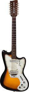 Musical Instruments:Electric Guitars, Circa 1968 Coral Scorpion 12-String Sunburst Solid Body Electric Guitar....