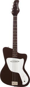 Musical Instruments:Bass Guitars, 1967 Danelectro Hawk Brown Electric Bass Guitar....