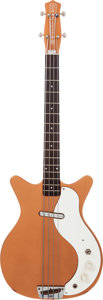 Musical Instruments:Bass Guitars, 1962 Danelectro Model 3412 Shorthorn Copper Electric Bass Guitar....