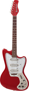 Musical Instruments:Electric Guitars, Circa 1968 Danelectro Dane Red Solid Body Electric Guitar....