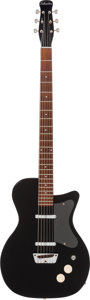 Musical Instruments:Bass Guitars, 1958 Silvertone Model 1373 Black Baritone Guitar....