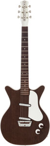Musical Instruments:Electric Guitars, Circa 1964 Danelectro Deluxe Walnut Solid Body Electric Guitar....