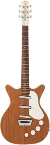 Musical Instruments:Electric Guitars, 1964 Danelectro Deluxe Honey Walnut Solid Body Electric Guitar....
