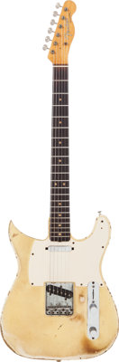 Mike Bloomfield's 1963 Fender Telecaster Blonde Solid Body Electric Guitar, Serial # L11155
