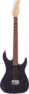 Musical Instruments:Electric Guitars, 1990's U.S. Masters Vector Blue Solid Body Electric Guitar, Serial# A121....