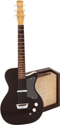 Musical Instruments:Electric Guitars, Circa 1958 Silvertone Brown Solid Body Electric Guitar and Model1451 Amplifier.... (Total: 2 Items)