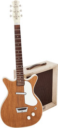 Musical Instruments:Electric Guitars, Circa 1964 Danelectro Deluxe Honey Walnut Solid Body ElectricGuitar.... (Total: 2 Items)