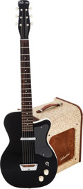 Musical Instruments:Electric Guitars, 1958 Silvertone Model 1302 Black Solid Body Electric Guitar andModel 1340 Guitar Amplifier.... (Total: 2 Items)