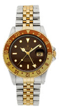 "Timepieces:Wristwatch, Rolex Ref. 16753 ""Rootbeer"" Dial GMT-Master, circa 1987. ..."
