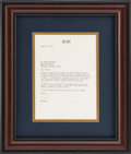 Baseball Collectibles:Others, 1973 Bob Hope Signed Letter to Brooks Robinson from The BrooksRobinson Collection. ...