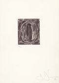 Prints, Jasper Johns (American, b. 1930). 0-9 (A Set of 10 Numerals), 1975. Etchings with lift-ground aquatint, soft-ground, and... (Total: 10 Items)
