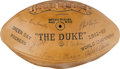 Football Collectibles:Balls, 1963 Green Bay Packers Team Signed Football. ...