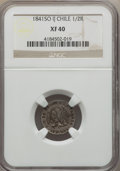 Chile, Chile: Republic 1/2 Real 1841 So-IJ XF40 NGC,...