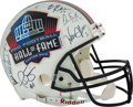 Football Collectibles:Helmets, Circa 2000 Quarterback Legends and Hall of Famers Multi-Signed Helmet....
