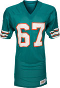 Football Collectibles:Uniforms, 1978-83 Bob Kuechenberg Game Worn Miami Dolphins Jersey....
