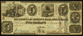 Obsoletes By State:Michigan, Jackson, MI- Detroit & St. Joseph Rail Road Bank $5 Apr. 9,1840. ...