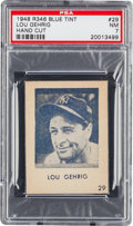 Baseball Cards:Singles (1940-1949), 1948 R346 Blue Tint Lou Gehrig #29 PSA NM 7. ...
