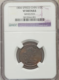 1804 1/2 C Spiked Chin -- Whizzed -- NGC Details. VF. NGC Census: (0/0). PCGS Population (21/368). Numismedia Wsl. Price...