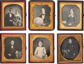 Photography:Daguerreotypes, Fine Group of Sixth Plate Daguerreotypes.... (Total: 6 Items)